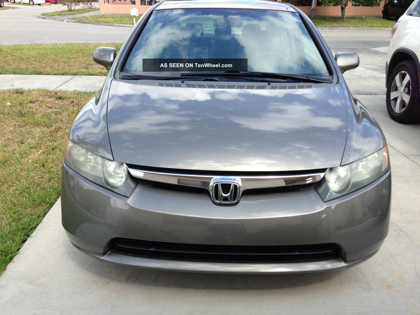 2008 Honda Civic Lx Sedan 4 Door 1 8l 5 Speed Manul Gas