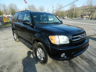 2002 Toyota Sequoia Limited 4wd Loaded Black Everyone photo