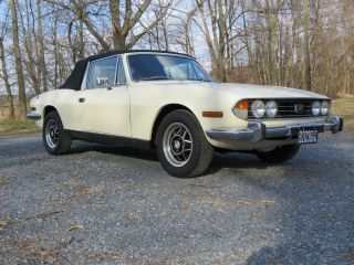 1975 Triumph Stag V8 - Rare (was Us Embassy Diplomat ' S Car Imported From Uk) photo