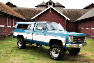 1976 Gmc Sierra Classic K20 3 / 4 Ton 4x4 Long Bed Auto 4wd photo
