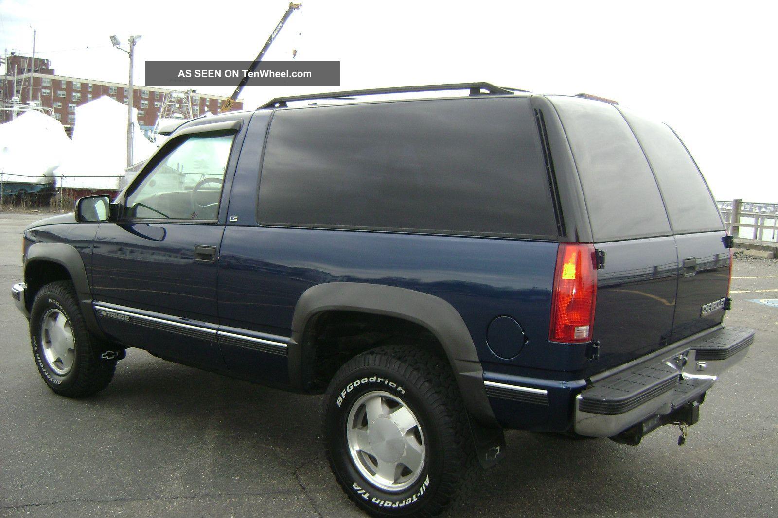 1999 Chevy Chevrolet Tahoe Ls 2 Door V8 Auto 4x4