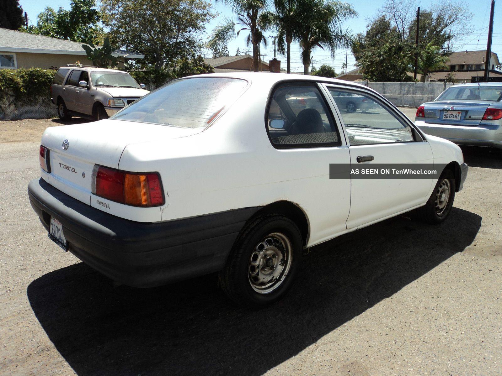 1993 toyota tercel std sedan 2 door 1 5l tenwheel