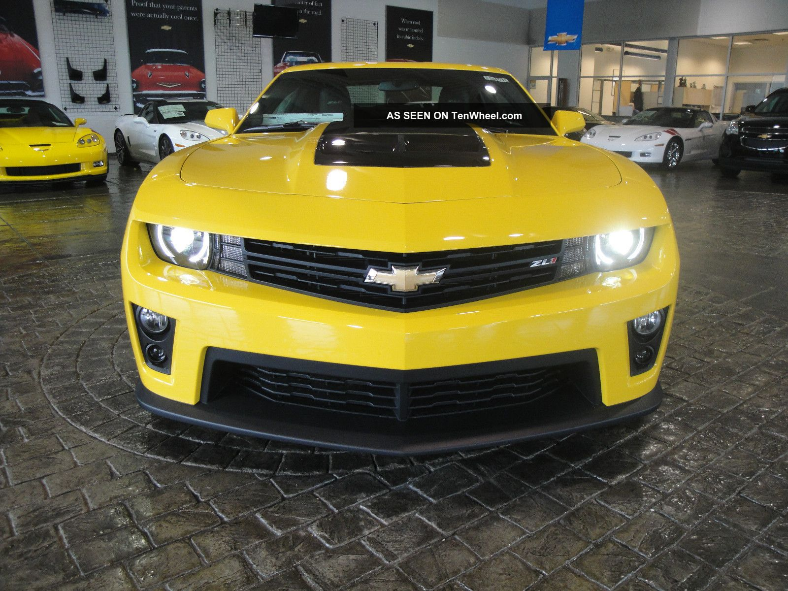 2013 Rally Yellow Supercharged Camaro Zl1 Automatic Carbon