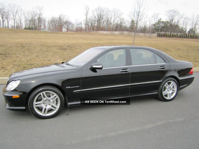 2004 mercedes benz s55 amg base sedan 4 door 5 5l black