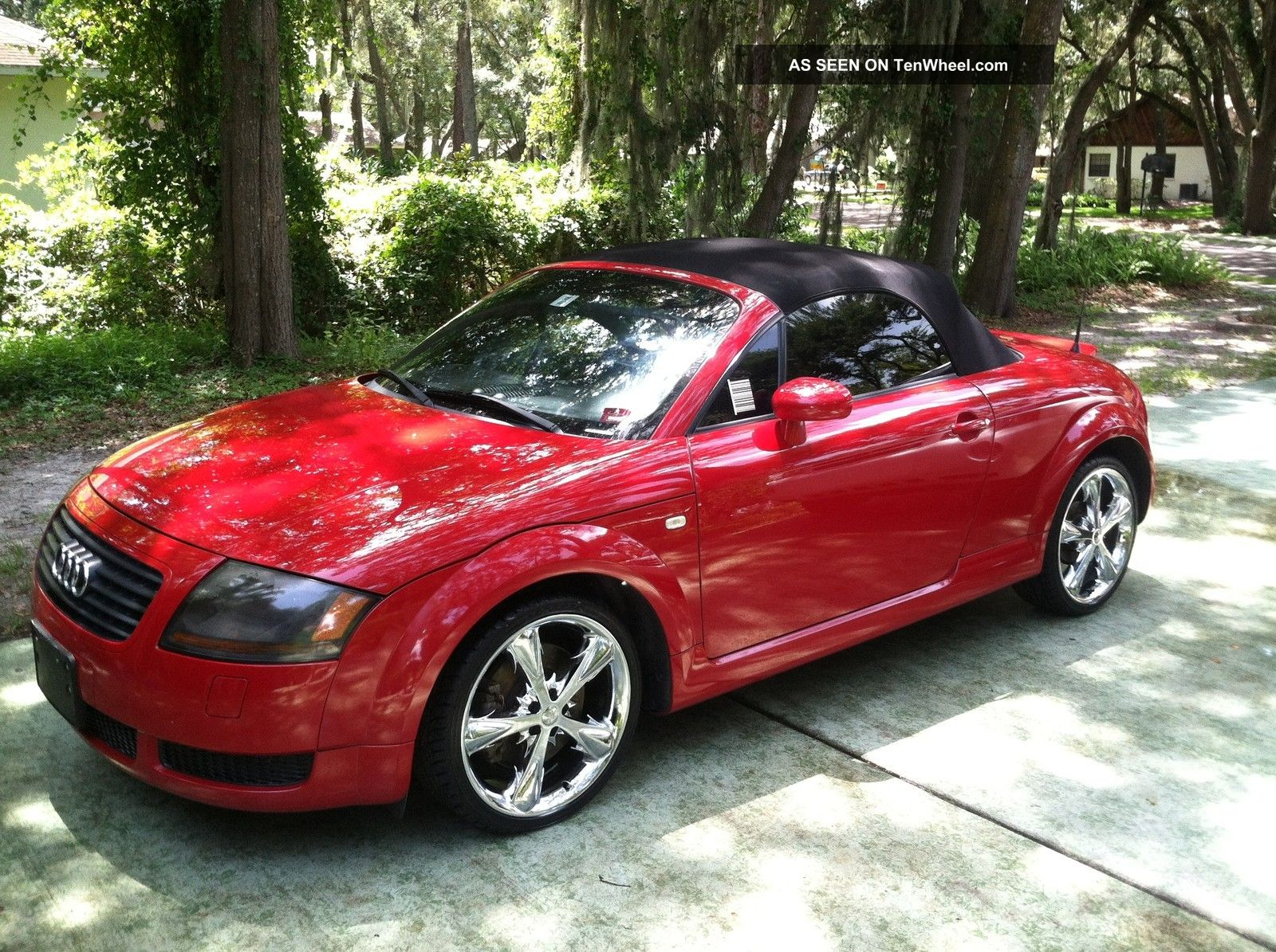 Audi Tt Convertible Turbo Red With Custom 18 Quot Chrome Rims