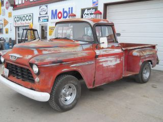 1955 Chevy Pickup Truck Street Rod Rat Rod 350 V8 3 Speed Manual Daily Driver photo