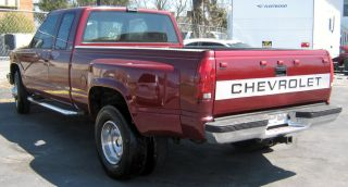 1989 Chevrolet C3500 Pickup Red Jasper 454 Engine With Papers 6 Tires photo