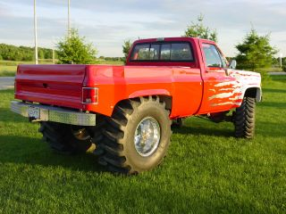 1979 Chevy 4x4 K30 Quagmire Mud - Show Truck Ready To Show - Run.  572 Pfi W / N2o photo