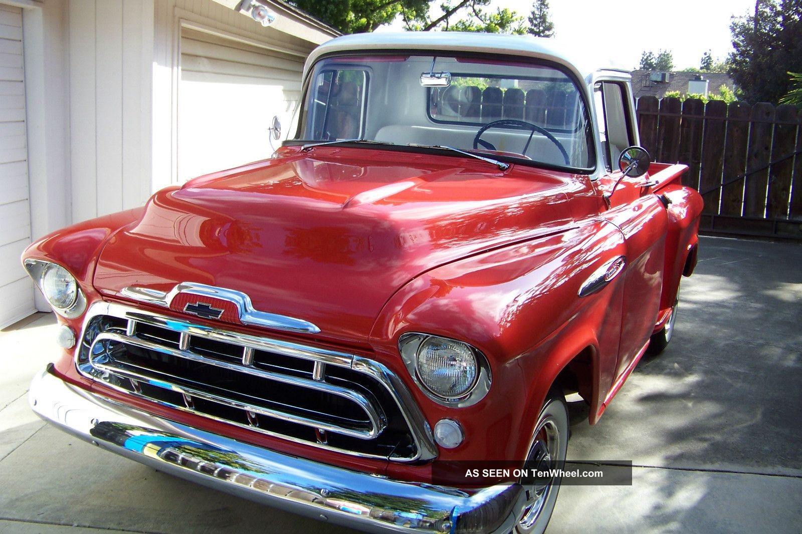 1957 chevrolet 3100 sb pickup truck small window stock. Black Bedroom Furniture Sets. Home Design Ideas