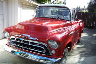 1957 Chevrolet 3100 Sb Pickup Truck Small Window Stock photo