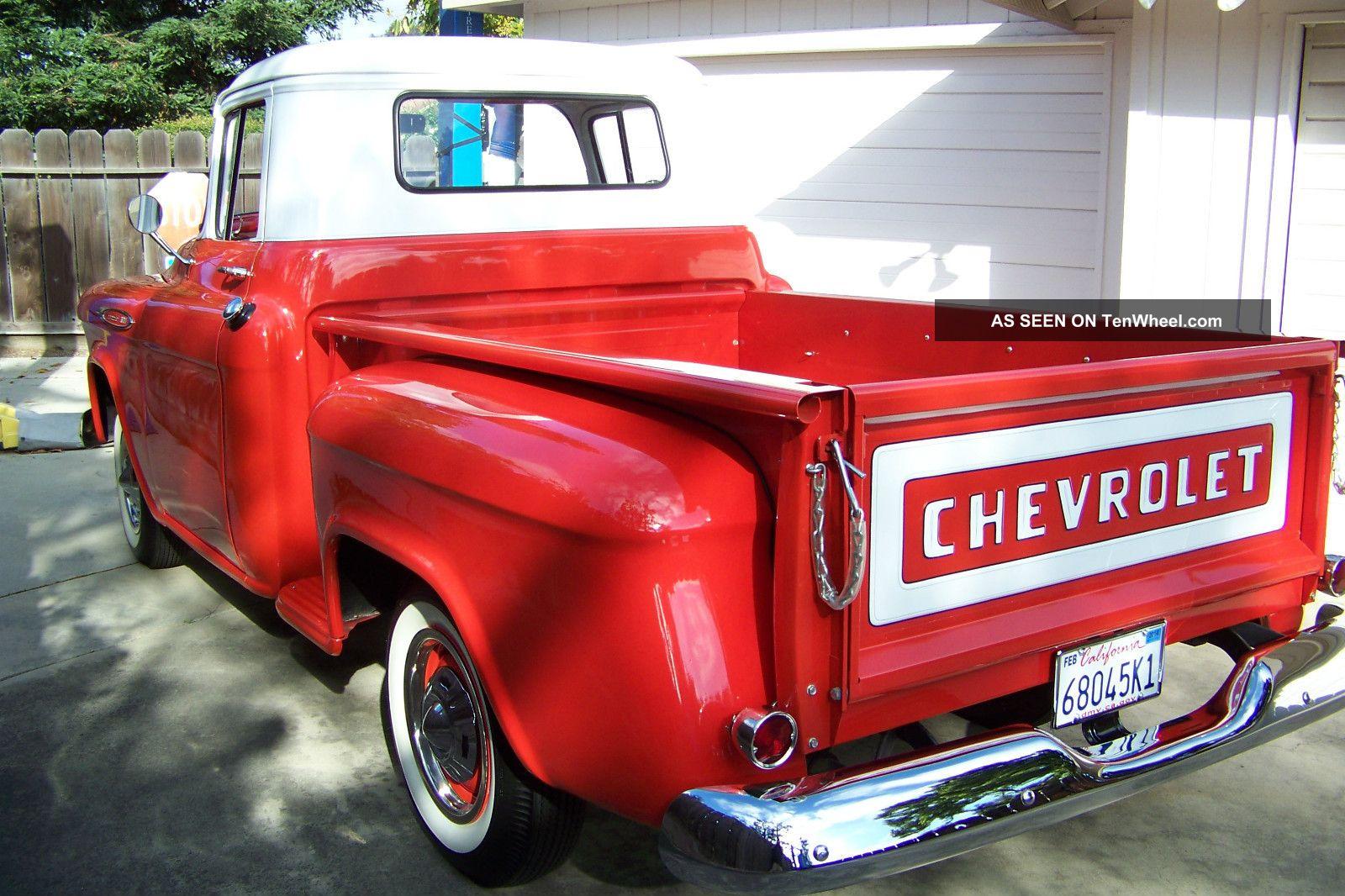 1957 chevrolet 3100 sb pickup truck small window stock. Black Bedroom Furniture Sets. Home Design Ideas