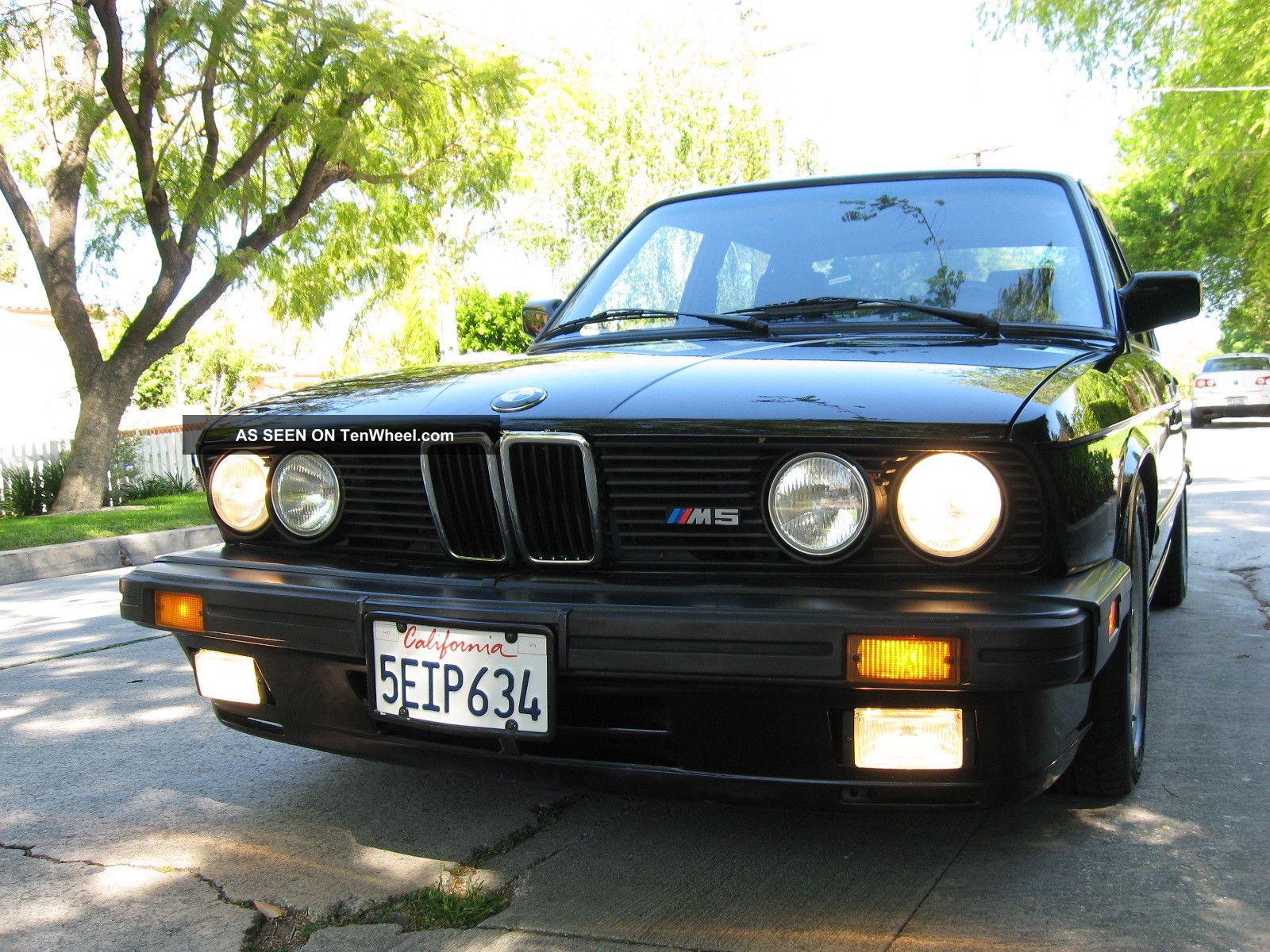 1988 Bmw M5 - E28 - 1st Generation Limited Edition Blk / Blk M5 photo