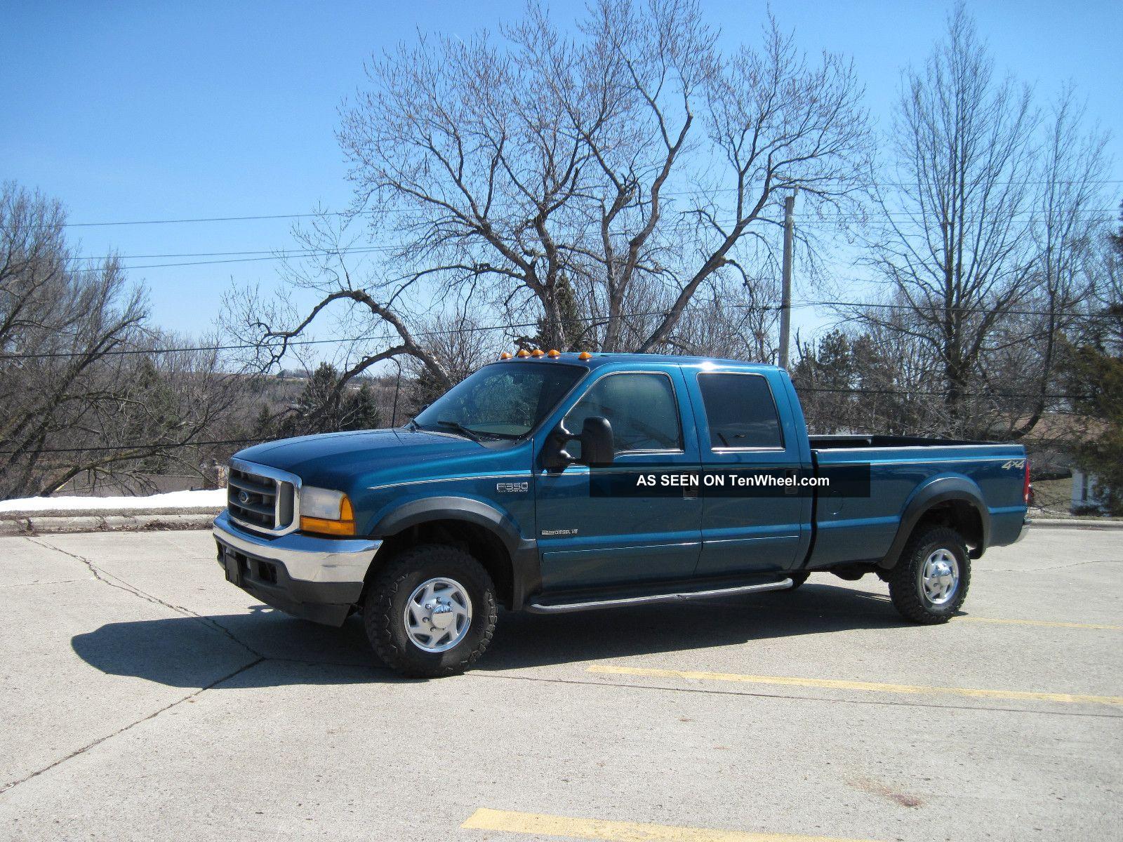 2001 ford f 350 duty xlt crew cab pickup 4 door 7 3l. Black Bedroom Furniture Sets. Home Design Ideas