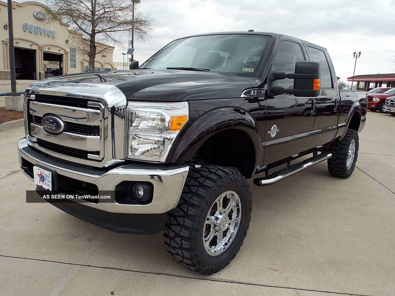 2013 ford f 250 crewcab lariat 4x4 6 39 lift 35 tires 20 39 wheels. Black Bedroom Furniture Sets. Home Design Ideas