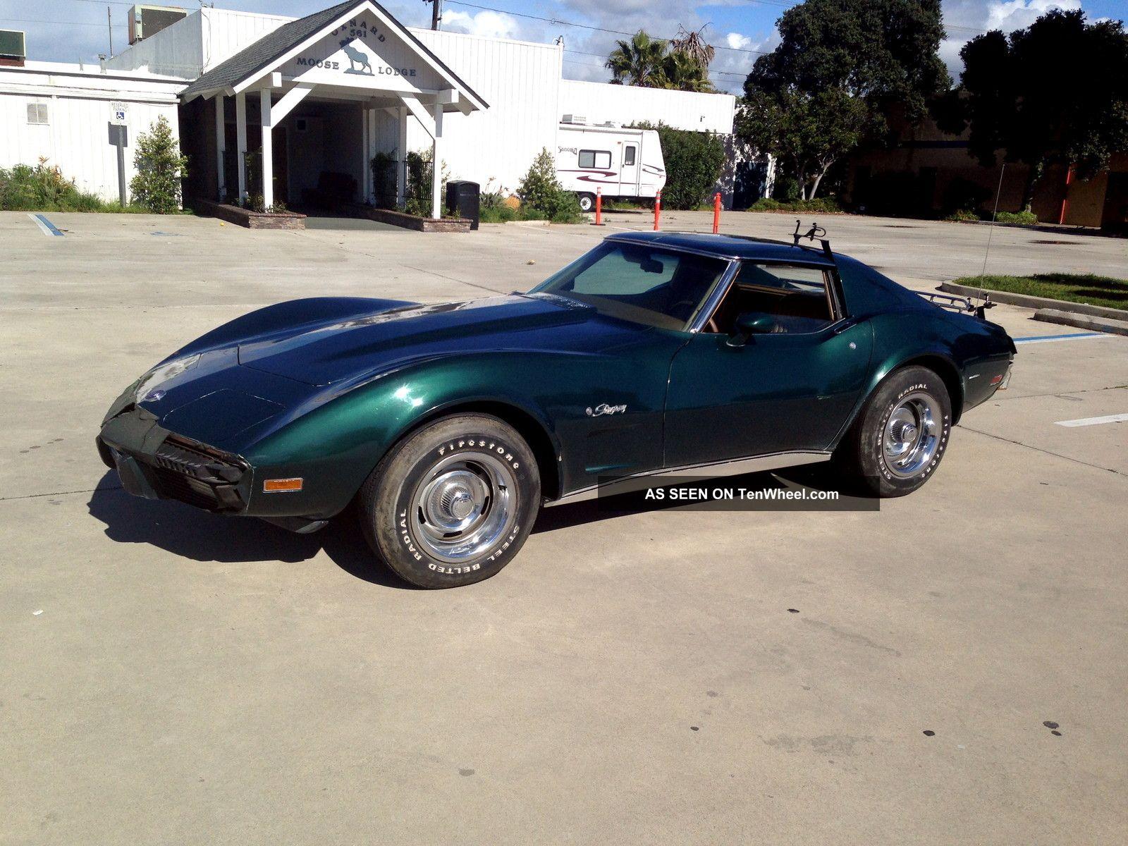 Corvette Stingray T Top Dark Green With Buckskin Lgw