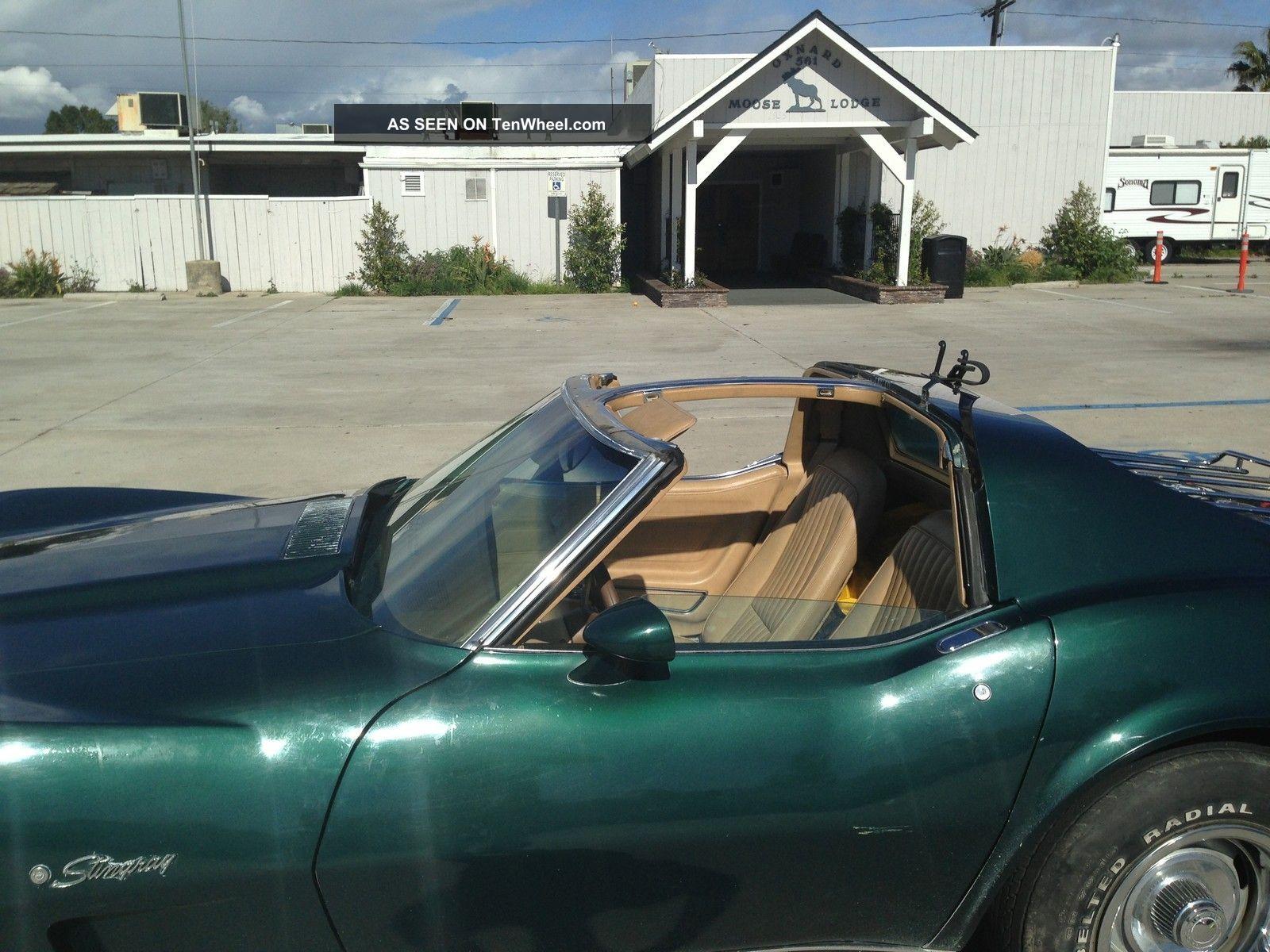 1976 Corvette Stingray T Top Dark Green With Buckskin