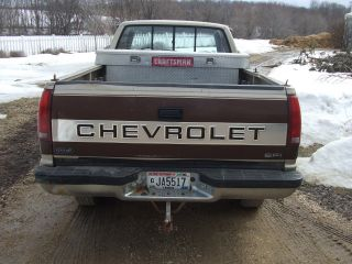 1988 Chevy 3500 One Ton Sinle Wheel Pickup Truck,  With Tool Box Extended Cab N / R photo