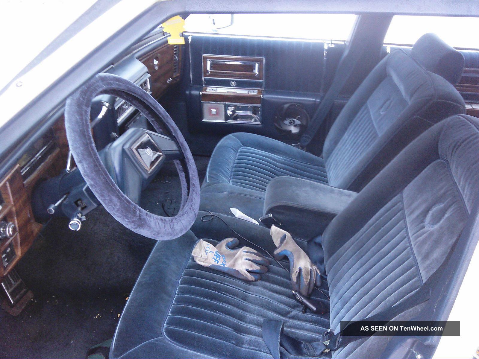 1987 Cadillac Brougham Base Sedan 4 - Door 5.  0l White Blue Interior White Other photo