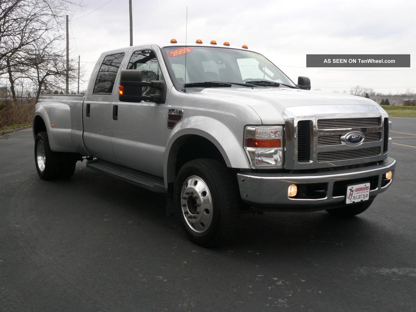 2008 ford f 450 duty xlt crew cab pickup 4 door 6 4l indash. Black Bedroom Furniture Sets. Home Design Ideas