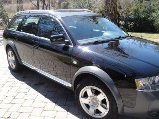Audi Allroad Rare 6 Speed Manual 2001 Black Ext / Platinum / Sabre Black Interior photo