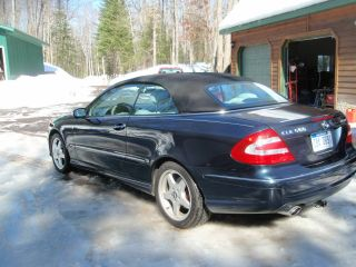 2004 Mercedes Benz Clk Convertible Loaded W / Opt. .  Ex.  Condition Drk Blue photo