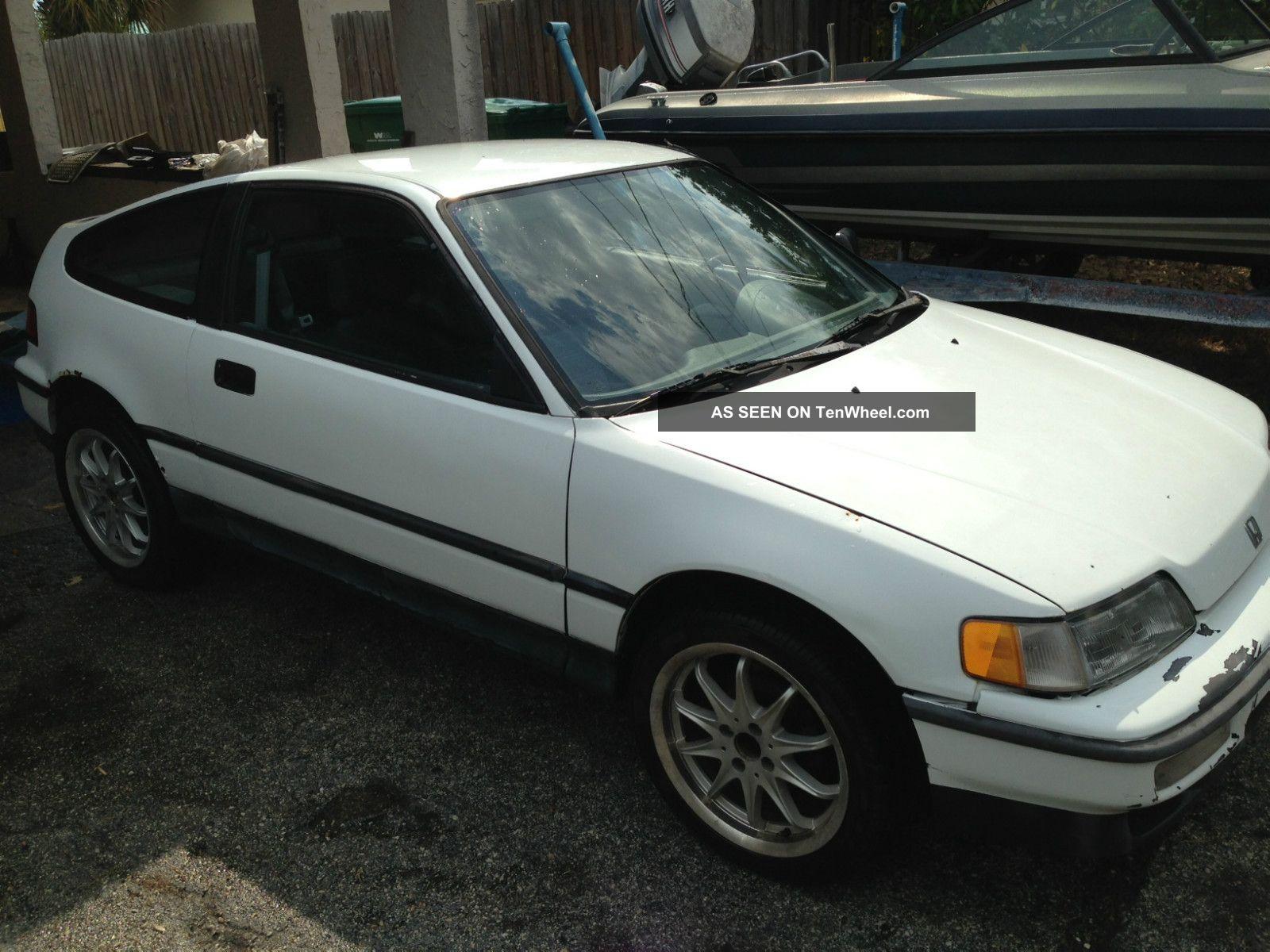 1991 Honda Crx Hf 1.  5 Sohc Stock 5 Speed Manual Unmolested CRX photo