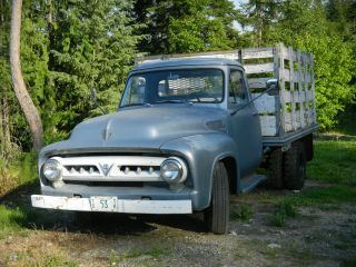 1953 Ford V8,  4 Speed Manual,  350,  1 Ton,  Dually,  Short Flatbed With Racks photo