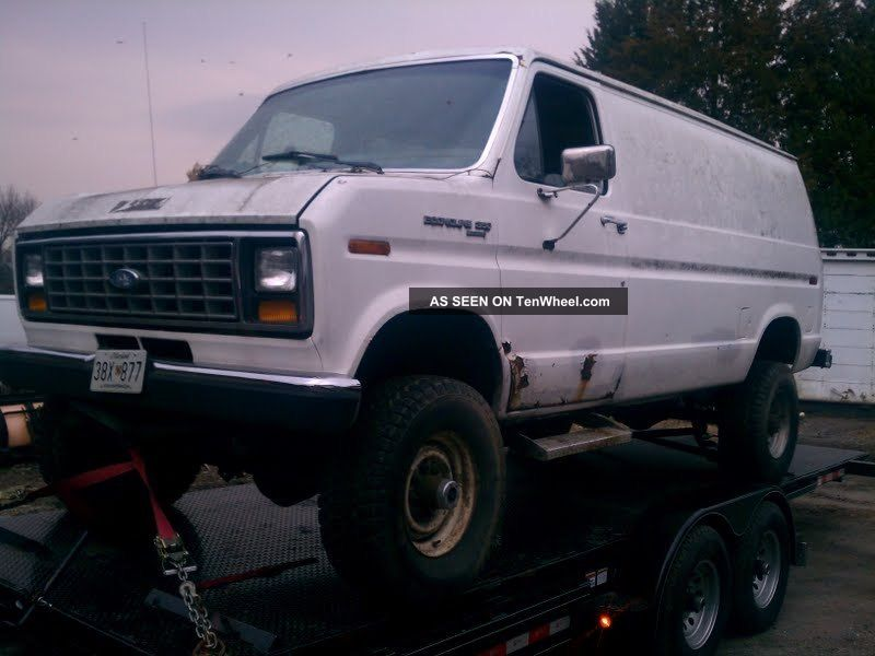 1988 Ford E350 4x4 Cargo Van 7 3 Diesel Dana 60 S