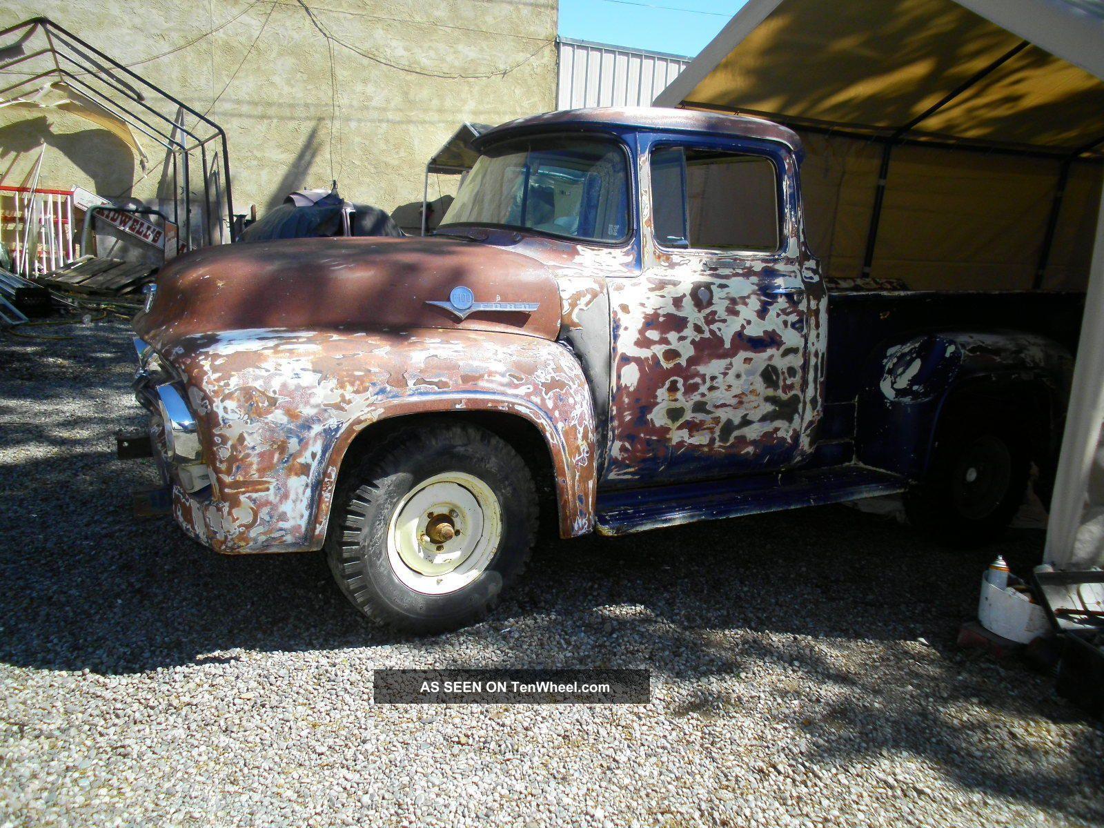 1956 Ford F100 Big Window Pickup Truck California Hot Rod Rat Rod Pro Street Other Pickups photo