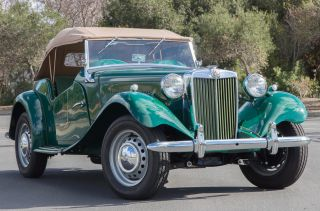 1953 Mg Td - Near Concours Restoration,  Brooklands Green,  Almond Green Interior photo