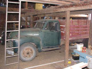 1952 Chevrolet 6400 Dump Truck With Grain Tight Grain Box And Hydraulic Hoist photo