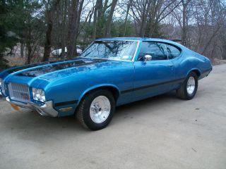 Gorgeous 1972 Oldsmobile Cutlass 442 Clone Viking Blue Musclecar photo