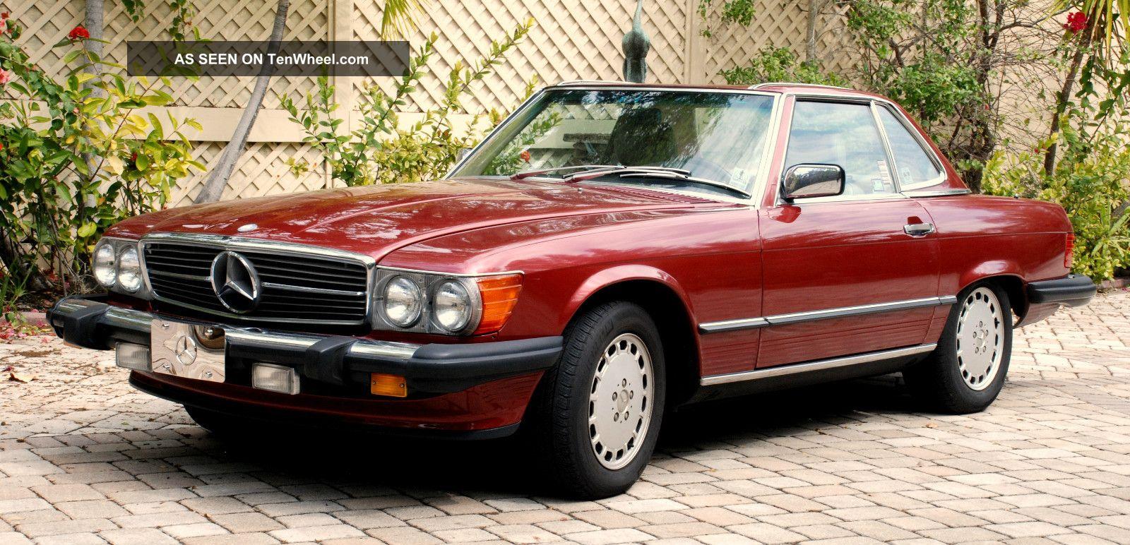 1989 Mercedes Benz 560sl Base Convertible 2 Door 5 6l