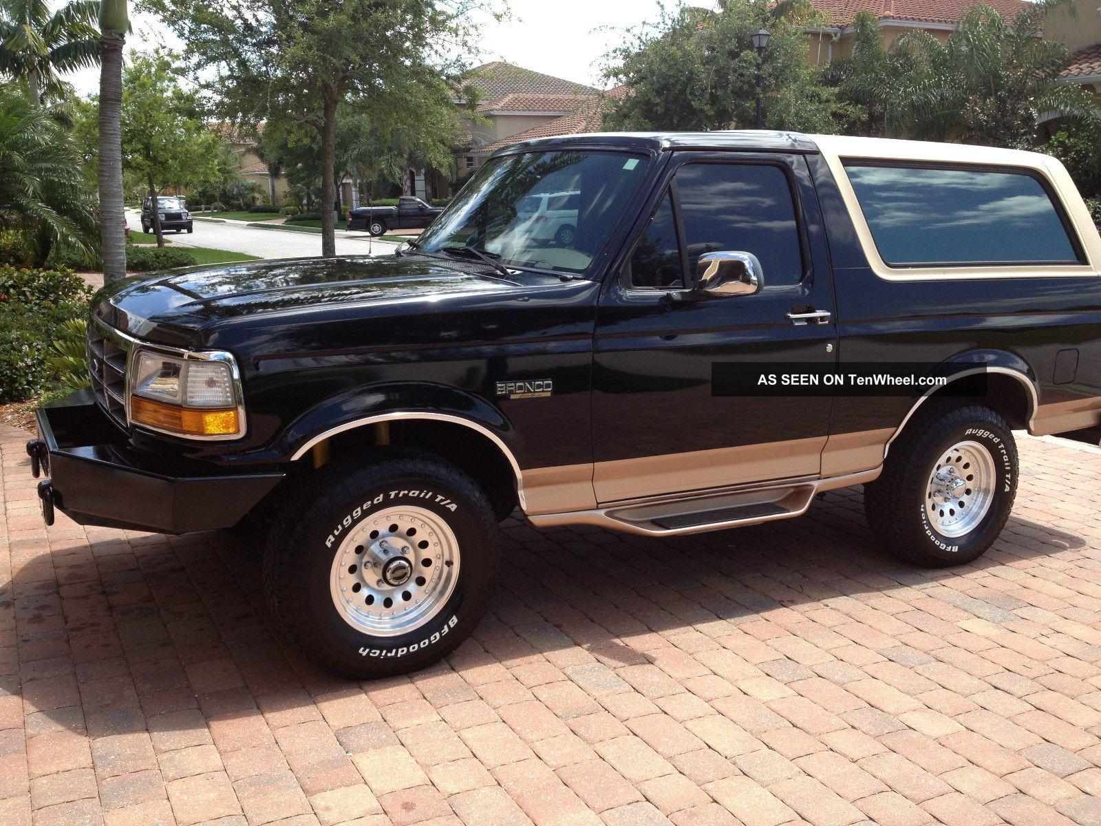 1995 Ford Bronco Eddie Bauer Sport Utility 2 Door 5 8l
