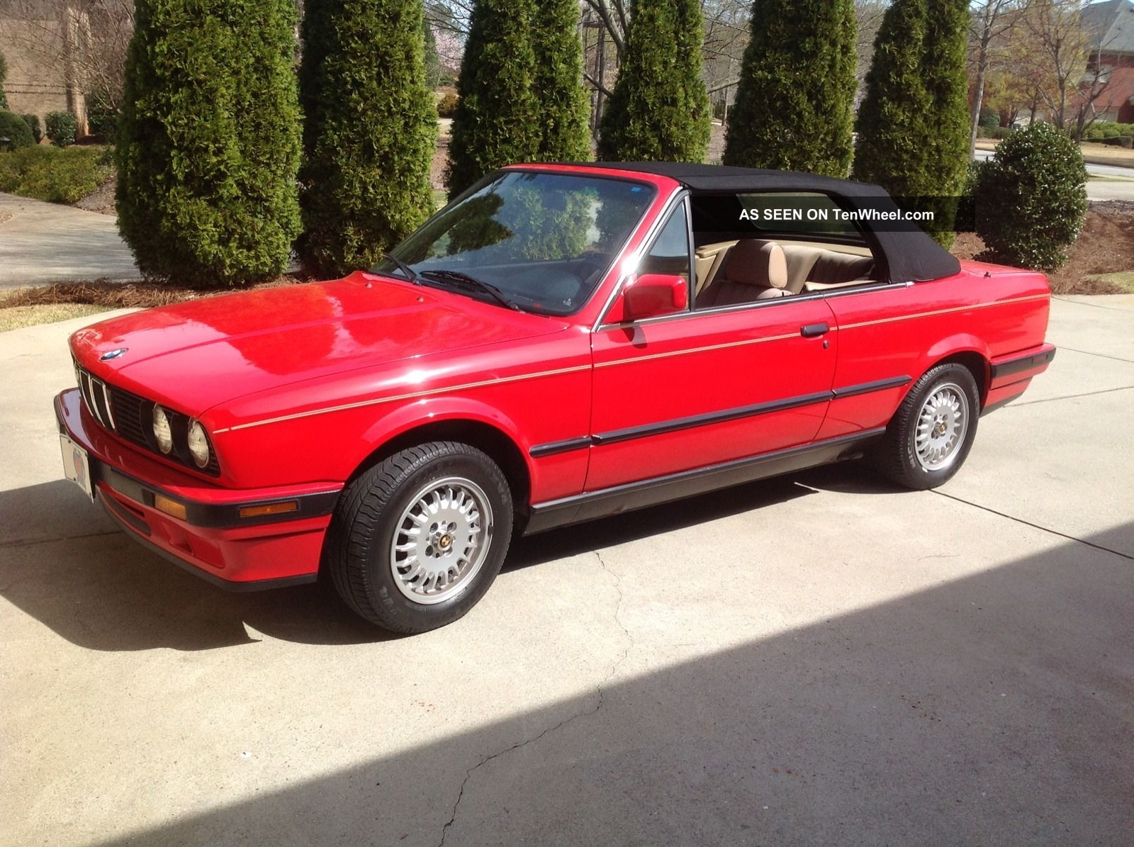 1991 bmw e30 318i convertible leather euro ii cabrio roadster car interior design. Black Bedroom Furniture Sets. Home Design Ideas