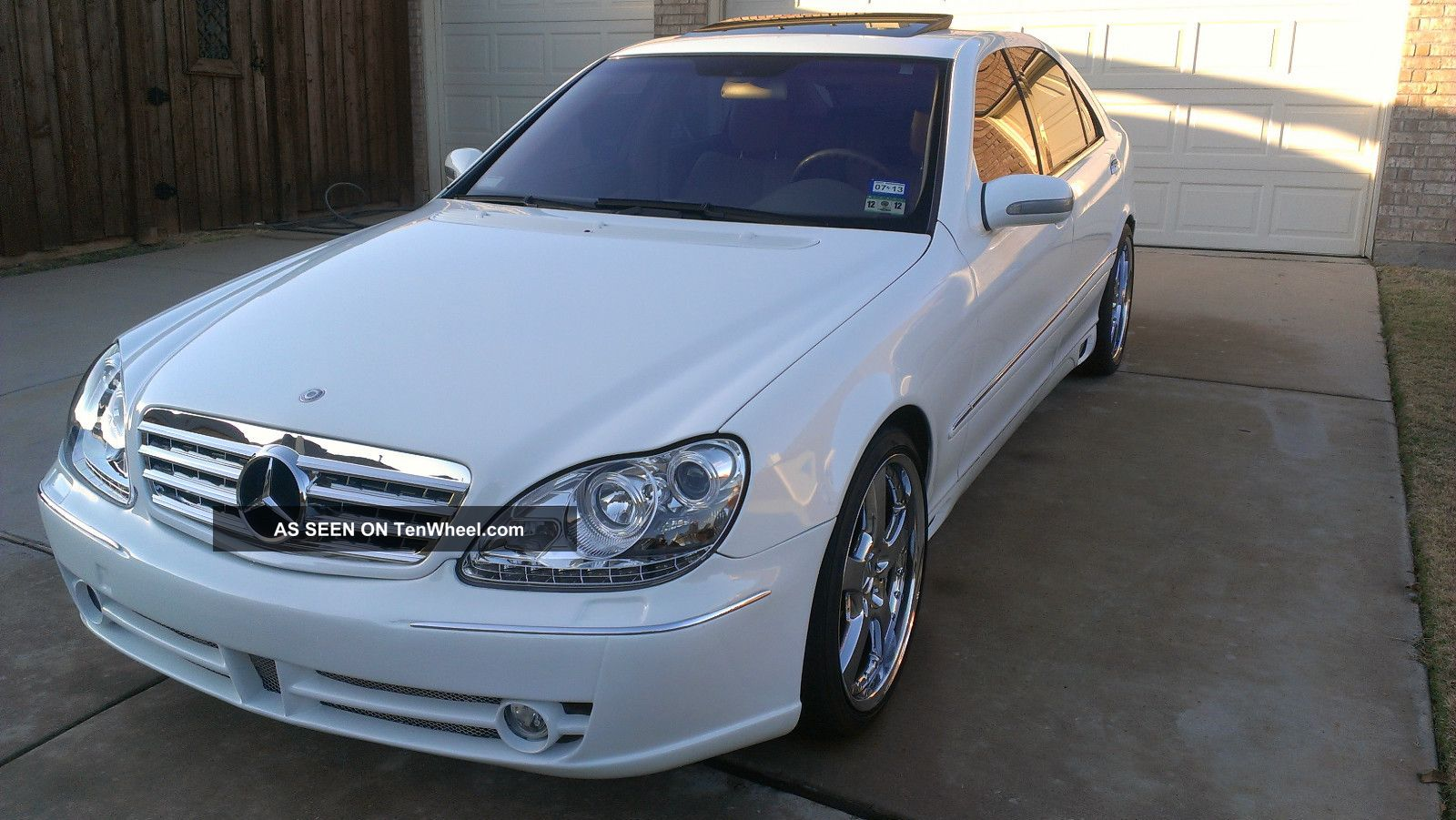 2001 mercedes benz s430 white with many upgrades. Black Bedroom Furniture Sets. Home Design Ideas
