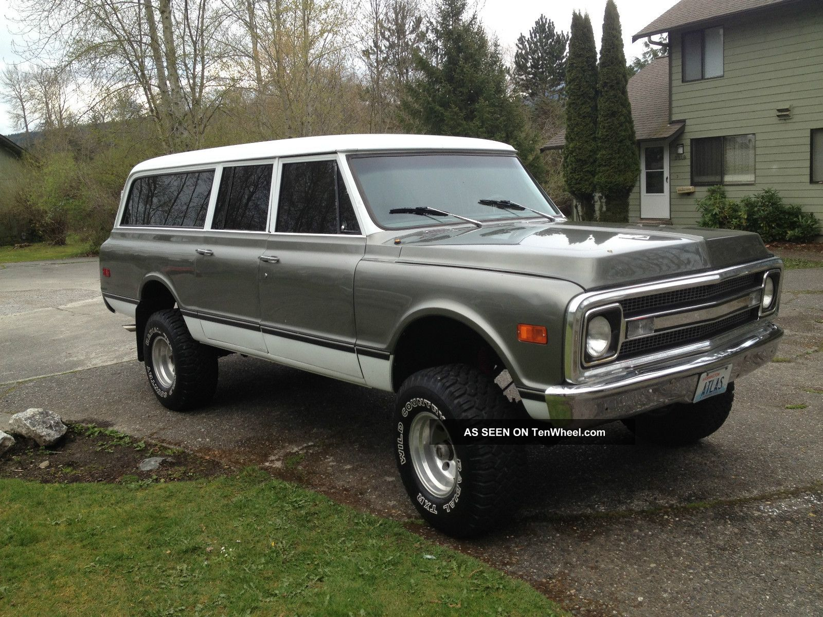 Lifted 1970 Chevy Suburban Truck 4x4 350 At Rare 67 68 69 71 72 C10
