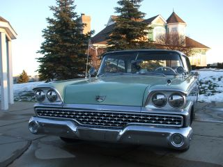1959 Ford Fairlane 500 Oringal 352 Numbers Matching Motor 2dr In And Out photo