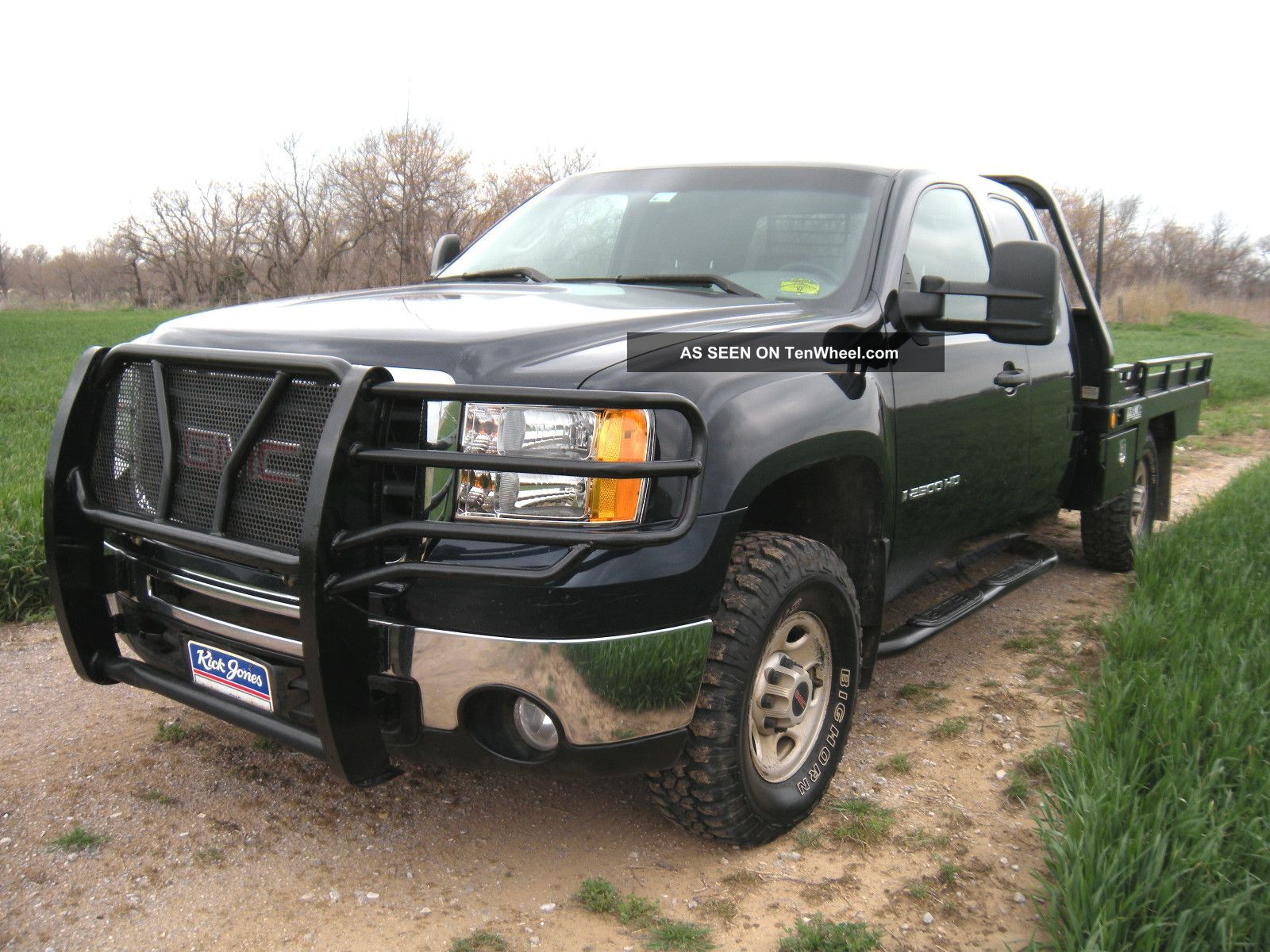 2008 gmc sierra 2500 hd 4x4 extended cab pickup bramco hay bale spike flatbed. Black Bedroom Furniture Sets. Home Design Ideas