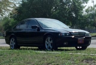 2005 Lincoln Ls V6 Appearance Pkg Black With Camel Interior photo