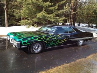 1967 Pontiac Grand Prix Gp Vintage Low Rider Custom With Flames photo
