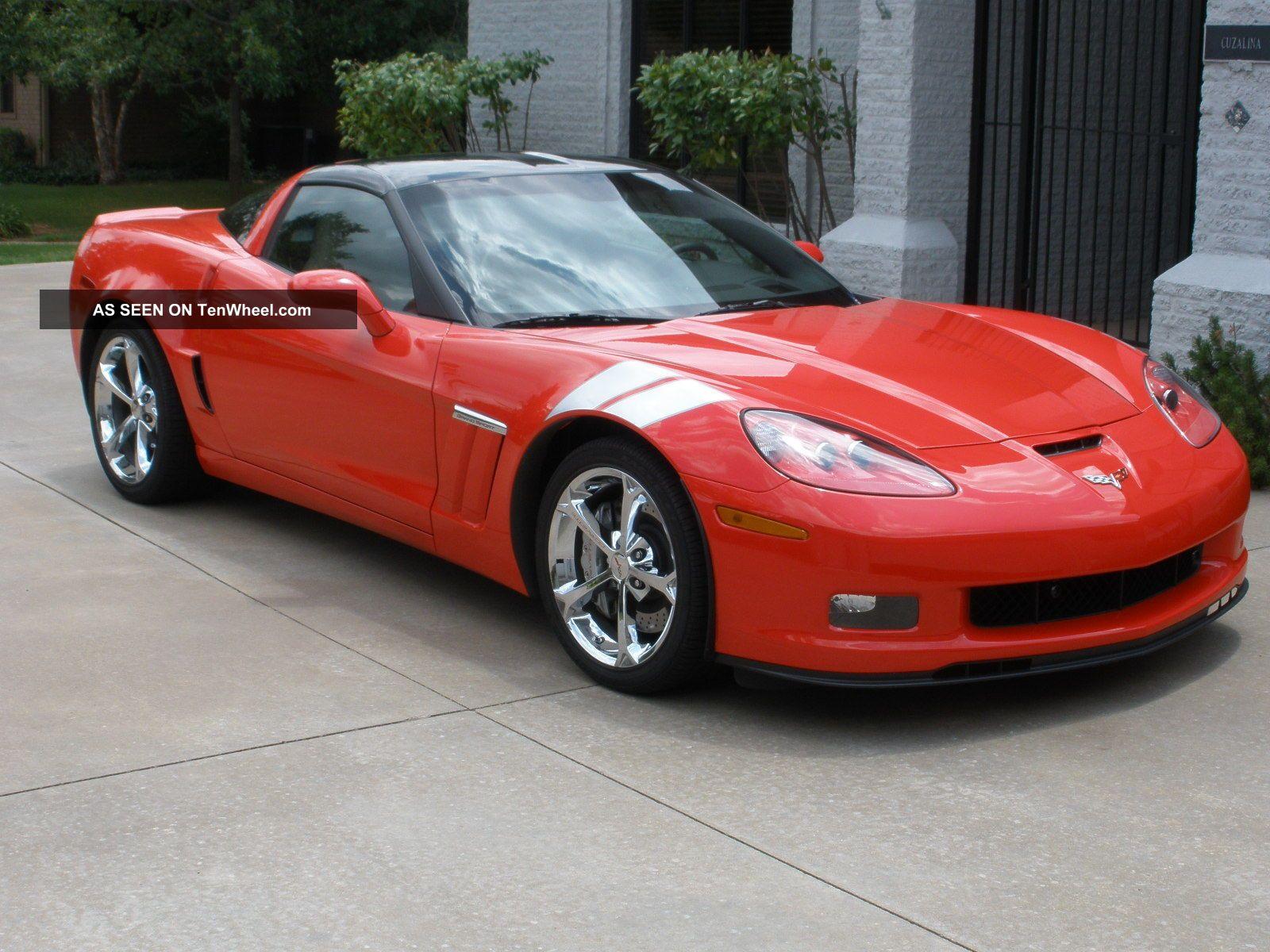 2011 corvette grand sport coupe red tan auto 3lt npp. Black Bedroom Furniture Sets. Home Design Ideas