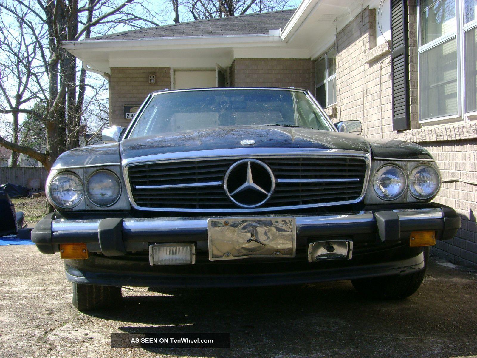 1988 mercedes benz 560sl black convertible hard top for Mercedes benz 560sl