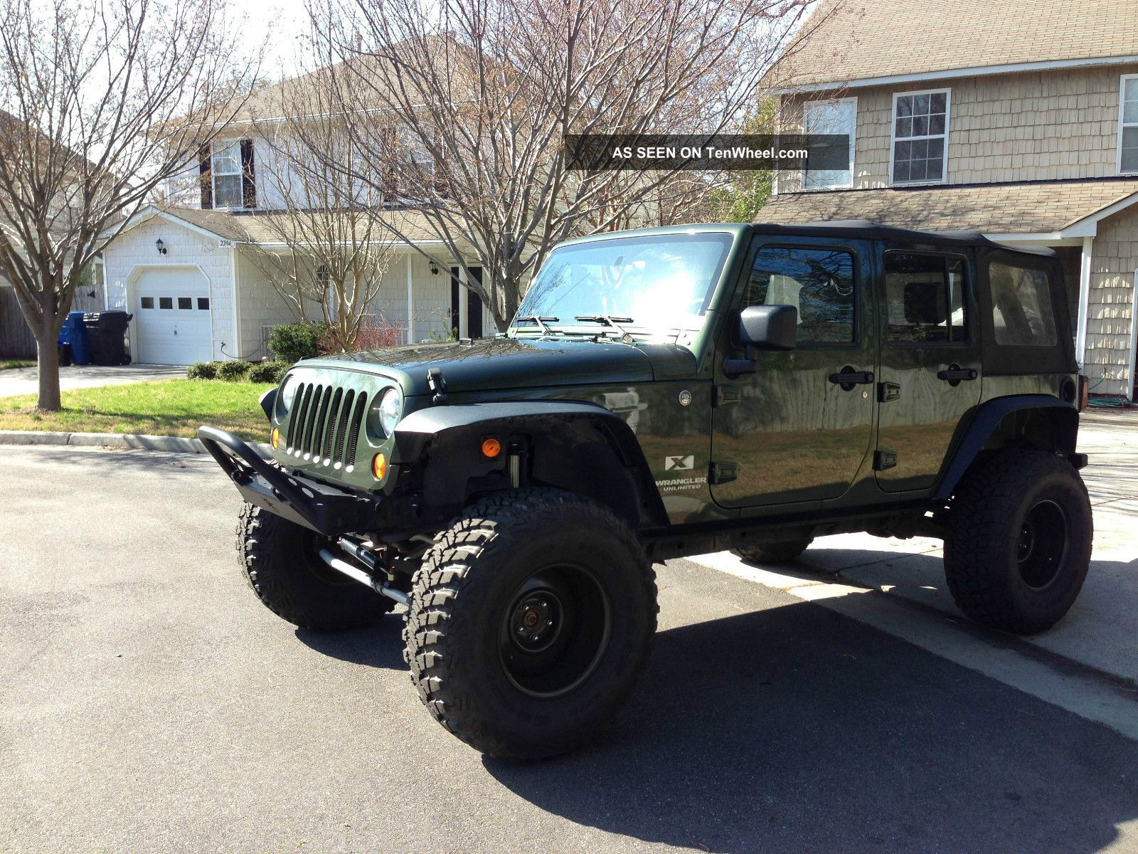 2007 jeep wrangler unlimited x 37 wheels rock krawler lifted