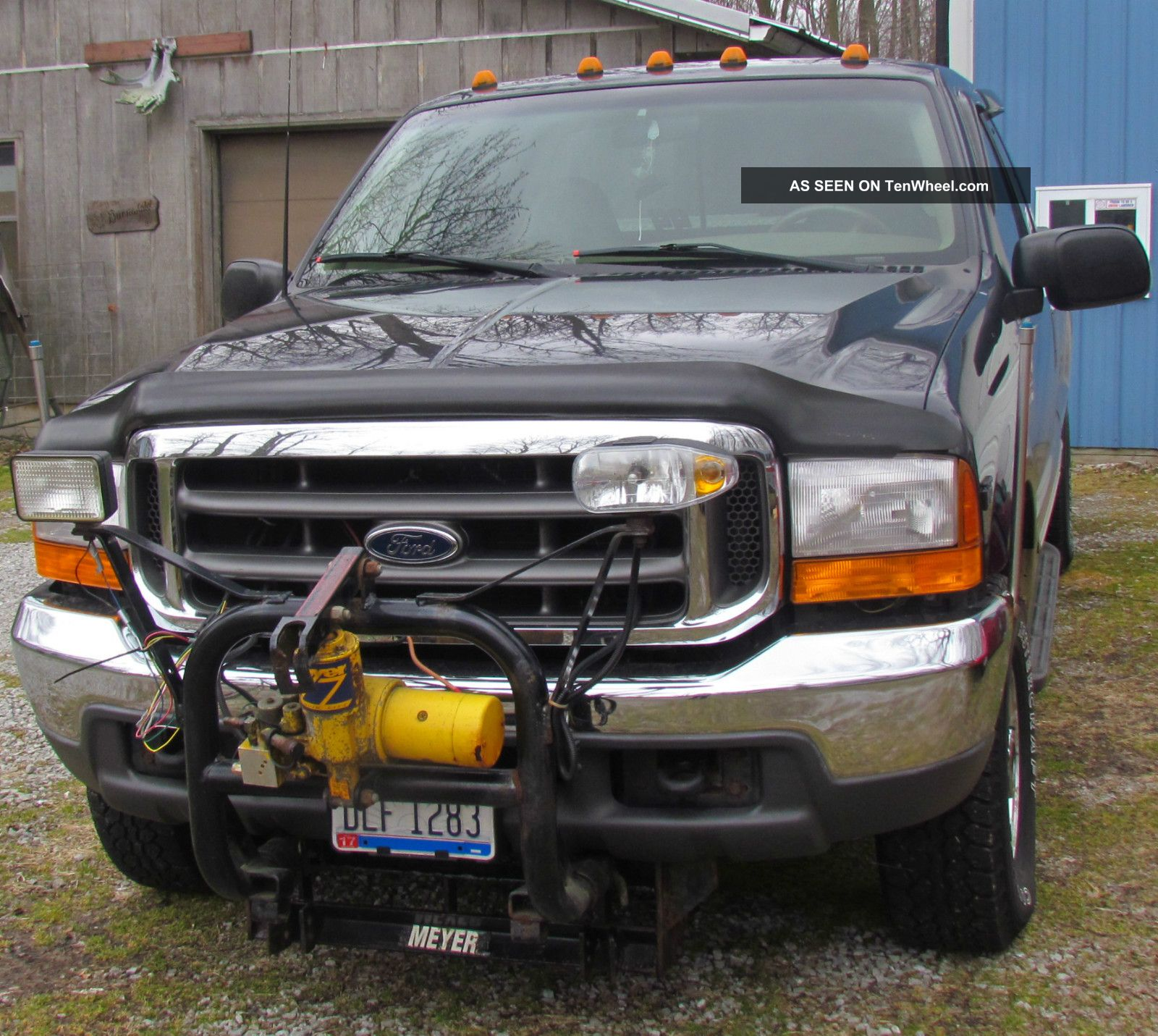2000 Ford F250 Duty Extended Cab 4x4 V10 With Plow