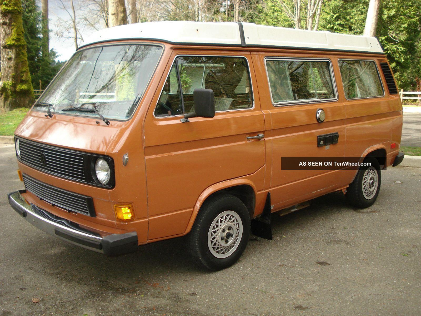 1982 Volkswagen Vw Vanagon Westfalia Westy Pop Top Camper Diesel Rare