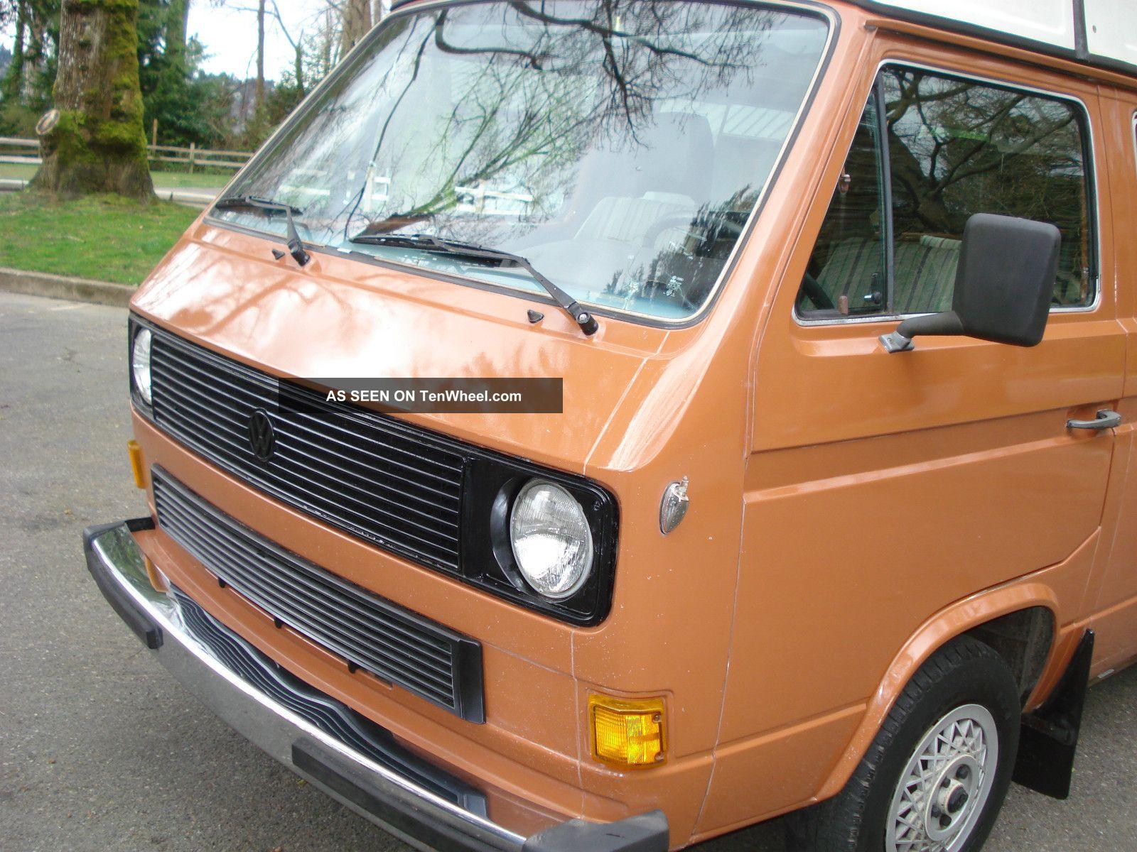 1982 Volkswagen Vw Vanagon Westfalia Westy Pop Top Camper