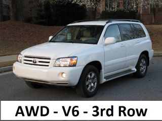 2005 Toyota Highlander Base Sport Utility 4 - Door 3.  3l,  Awd,  3rd Row Seating photo
