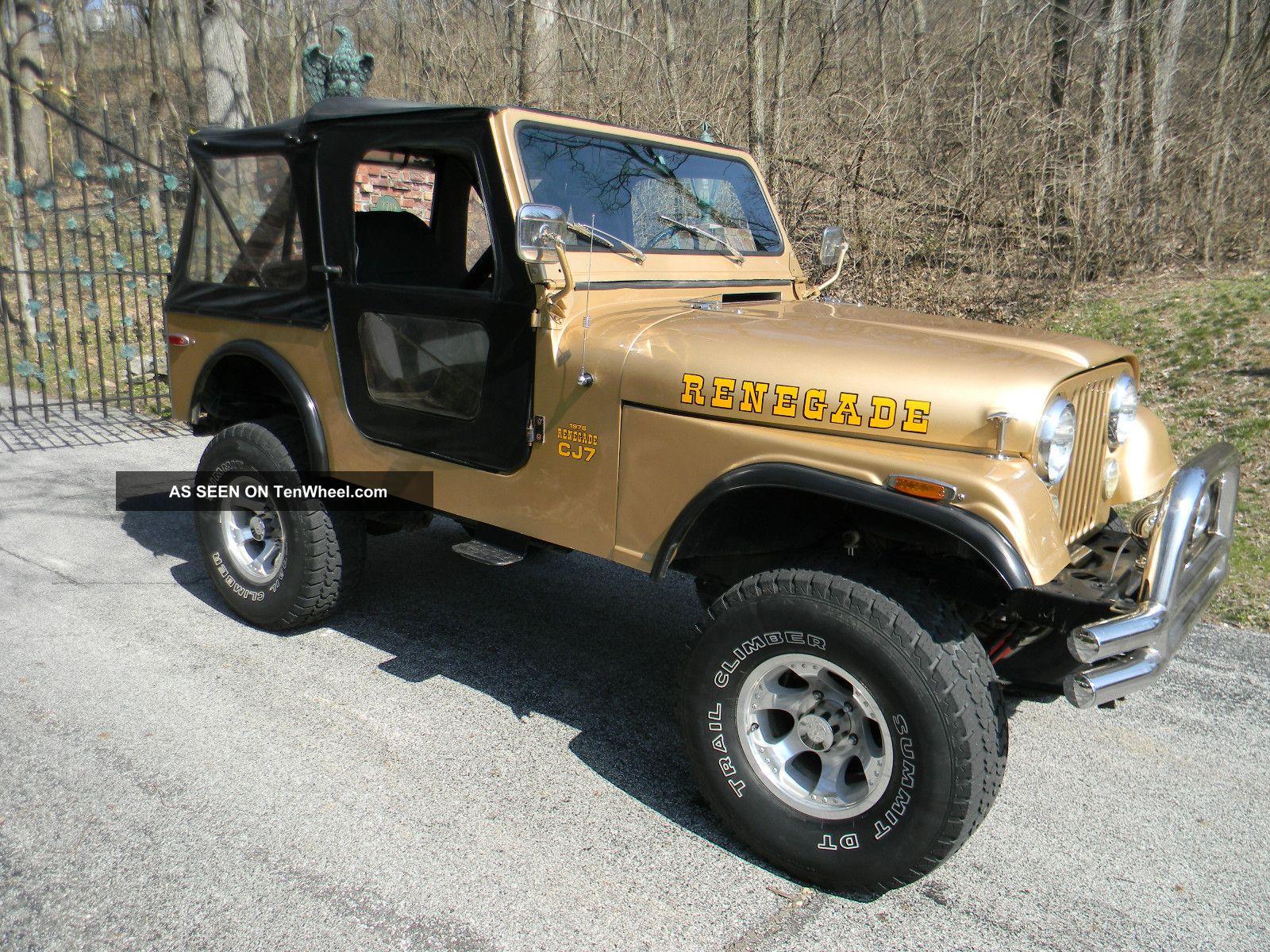 1976 jeep cj7 renegade sport utility 2 door 5 0l. Black Bedroom Furniture Sets. Home Design Ideas
