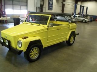 1974 Vw Thing Convertible Poplawski Aircraft Paint / / Looks photo